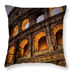 """Coliseum Dawn 14"""" x 14"""" Throw Pillow by Joan Carroll.  Multiple sizes available."""