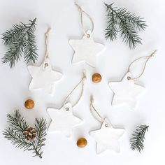 Air Dry Clay Christmas Ornaments 5 Different Ways Diy Christmas Decorations, Diy Christmas Ornaments, Handmade Christmas, Holiday Crafts, Ornaments Ideas, Clay Ornaments, Holiday Decor, Canadian Christmas, Coastal Christmas