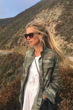 Vogue contributing editor Laura Bailey's top recommendations of the week Laura Bailey, Young Vic, Vintage Flower Prints, Camo Jacket, Dark Blonde, Ootd, Party Looks, Hair Dos, Summer Girls