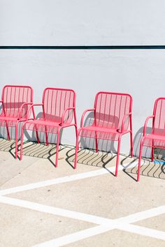 pink outdoor chairs