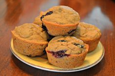 Paleo Blueberry Muffins made with Otto's Naturals Cassava Flour | Food By Katie