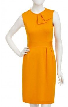 This Nanette Lepore sheath dress in a papaya color brings together the trendy orange hues of 2012 - 2013 and effortless chic look of a sheath silohuette.