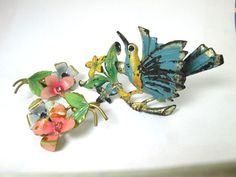 wow victorian? enameled ANTIQUE silver gold rhinestones AUSTRIA earrings brooch jewelry lot by vintagejewels4u on Etsy