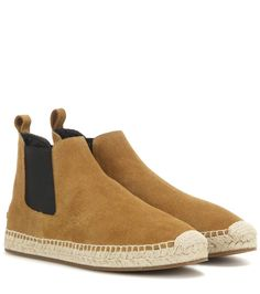 Bainsford tan suede espadrille Chelsea boots