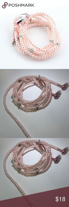 Pink fashionable pearl earphones Fashion Pearl Necklace 3.5 mm Stereo Earphone Headset For iPhone Samsung PC MP3    Use: Mobile Phone Style: In-Ear Connectors: 3.5 mm Function:Supports music Communication: Wired Model Number: Headphones Color:Pink,Black,Silver,Color Blue,Hyun Black Package Includes:1*Earphone  Suitable Model : For iPhone,Samsung galaxy,LG,HTC,Sony,xiaomi,huawei Android Phone,MP3,MP4,Laptops Accessories Phone Cases