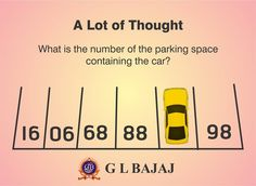 What is the number of Parking Space containing the car? #Quiz #Puzzle