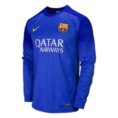 Nike FC Barcelona 2013/2014 Goalkeeper Soccer Jersey V. Valdes also uses a green version of this While Oier Olazabal Uses a red Version of This