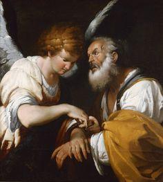 天使の絵画bot(@art_of_angel)さん | Twitter  ベルナルド・ストロッツィ『聖ペテロの開放』(1635)