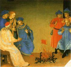 Fra Angelico (1395–1455) - La dispute de saint Dominique et le miracle du livre - c. 1432