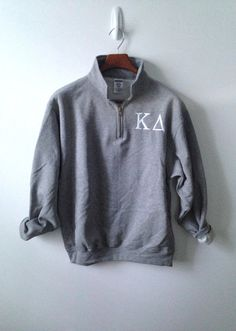 1/4 Zip Pullover . Sorority Letters on Etsy, $38.00