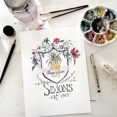 Every family is unique and worth celebrating. Let me create a custom, hand  painted original watercolor crest for your family or special occasion.  Perfect for anniversary, or as a wedding gift, the family crest can reflect  your interests, favorite verse, or the most significant things you hold  dear as a family. Let me help you bring it to life!  *Please contact me for additional sizes.  *Additional charges my apply if extensive scripting or details are  requested. The examples shown in…