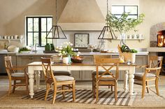 Choose a long table that perfect for having company. #potterybarn