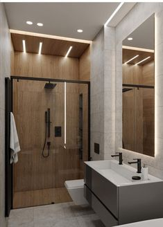 DEDE/Eco minimalism apartment on Behance Best Bathroom Designs, Bathroom Design Luxury, Bathroom Layout, Modern Bathroom Design, Loft Design, House Design, Loft Interior, Cozy Apartment, Toilet Design