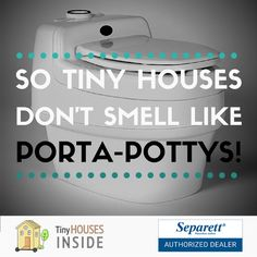 Get the toilet that won't smell like a Porta-Potty! $1389 - Fast & FREE Shipping https://www.tinyhousesinside.com/collections/tiny-house-composting-toilets/products/separett-villa-9200-waterless-composting-toilet
