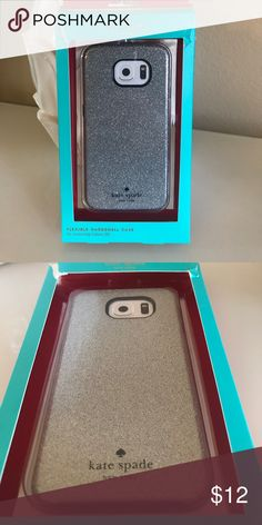 SALE🎉 Kate Spade Glitter Glam Galaxy S6 Case New in Box ✨ Glitter Glam Flexible Hardshell Case for Samsung Galaxy S6 kate spade Accessories Phone Cases