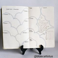 New weekly layout by @bluecatlotus. #bulletjournal