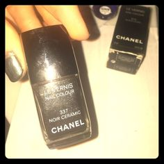 Chanel Noir Ceramic nail polish Grayish black with a bit of sparkle CHANEL Other