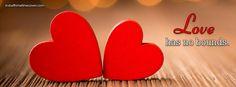 love has no bounds red hearts Facebook Cover InstallTimelineCover.com