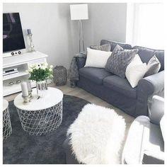 48 Comfy Apartment Living Room Decor Ideas und heim - New Site Ikea Living Room, Small Living Rooms, Living Room Designs, Living Room Furniture, Wooden Furniture, Luxury Furniture, Apartment Design, Apartment Living, Apartment Therapy
