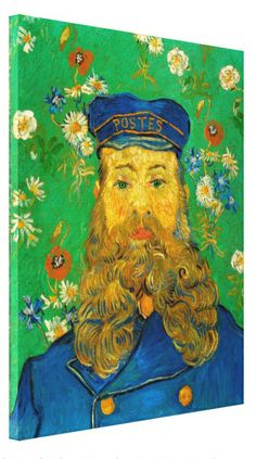 Portrait of Joseph Roulin by Vincent Van Gogh #Stretched #Canvas #Prints. #VanGogh #Vincent #portrait #Roulin #postman #painting #oilpainting #art #poster #Impressionism #Postimpressionism #fineart #artwork #Arles