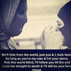 Ride or die till the end. With me or not, ill still ride with you untill the end. Bad Quotes, Girl Quotes, Quotes To Live By, Heart Quotes, True Quotes, Bonnie And Clyde Quotes, Bonnie N Clyde, Chicano, Gangster Love Quotes