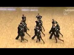 Dancers Form A Diagonal Line On The Dance Floor, Watch Closely When They Separate - NewsLinQ