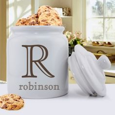 DETAILS: Personalized Ceramic Cookie Jars SIZE: 5