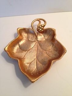 Charming Mid Century Small Gold Leaf Tray @flea_pop