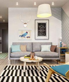 Un appartement de 40 m2 bien pensé, dans lequel architecture d'intérieur et décoration se complètent pour créer un petit espace fonctionnel et esthétique.