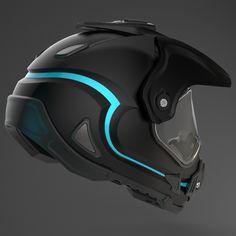 A motocross helmet design. Cool Motorcycle Helmets, Motocross Helmets, Mountain Bike Helmets, Scooter Motorcycle, Cool Motorcycles, Bicycle Helmet, Motorcycle Design, Motorcycle Accessories, Geek Gadgets