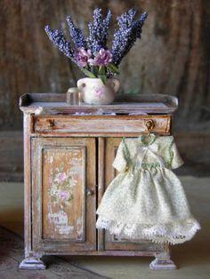 Miniatures for Dollhouse cute play kitchen mini dollhouse dolls