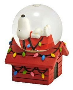 Peanuts Snoopy on Doghouse Mini Christmas Snowglobe by We...
