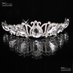 Wholesale Hair Accessories - Buy IN STOCK Romatic Silver Shiny Tiaras & Hair Headpieces Crystals Tiaras Wedding Bridal Jewelry Sets, $17.82   DHgate