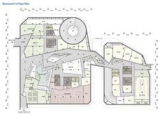 KT Landmark Tower / Studio Daniel Liebeskind + G.Lab* by Gansam Architects & Partners,first basement plan