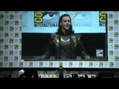 Tom Hiddleston cosplaying as Loki at Comic Con 2013. So many fangirl squeals! ESTHER!