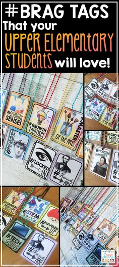 Your 3rd-6th grade elementary students (older kids) will love these clever and creative hashtag brag tags! #TeacherForTheWin!  They are 100% Editable!