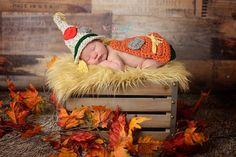 Cabo y sombrero de espantapájaros recién caída de Halloween