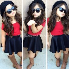 Little girls fashion #chic #fashionista