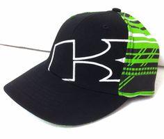Flex-Fit Sm (6-3 4 to 7-1 4 youth adult) KAWASAKI HAT Black Lime-Green  Letter-K  Kawasaki  BaseballCap b09d59cc4d49