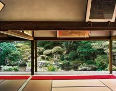 """Jacqueline Hassink Jikkō-in 1,Northeast Kyoto,29 June 2004 (9:30–10:30) Chromogenic prints41 x 51"""", 50 x 63"""", and63 x 79"""" Shared edition of 7"""