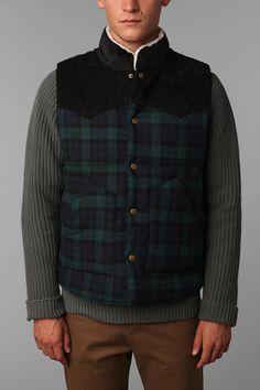 Salt Valley Wool Puffer Vest  #UrbanOutfitters