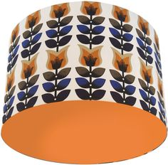 Retro Pattern: Tulips lampshade from Lampara Orange Lamps, London Logo, Everything Is Illuminated, Retro Pattern, Retro Ideas, Joss And Main, Drum Shade, Lamp Bases, Light Shades