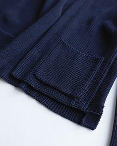 THE FACTORY men's knit-cottonカーディガン NAVY - hillside