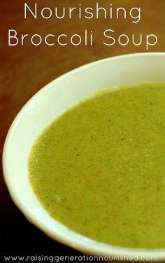 Nourishing Broccoli Soup by Raising Generation Nourished, via Flickr