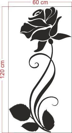 Stencil pattern or template Rosa Stencil, Stencil Painting, Fabric Painting, Stencil Templates, Stencil Patterns, Stencil Designs, Glass Etching Stencils, Mode Rose, Glass Engraving