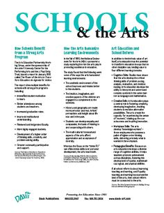 """How Schools Benefit from a Strong Arts Program, How the Arts Humanize Learning Environments, Art Education and School Reform.""  This is the thrid PDF on this page - you have to open it up in order to read it."