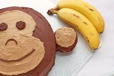 Monkey Cake:  Banana Cake with Chocolate Ganache and Peanut Butter