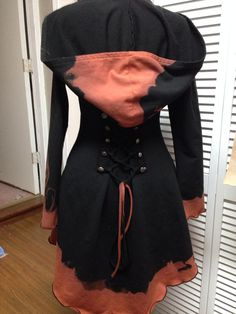 OOAK corset laced steampunk fairy pixie hoodie  on Etsy, $135.00 CAD