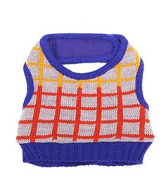 "Orange Blinks Wool Knitting ""Starry Skyline"" Collection Pet Vest, X-Small, Cobalt Blue/Red/Yellow *** Be sure to check out this helpful article. #CatApparel"