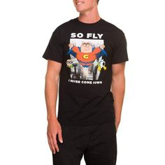 Big Men's Family Guy So Fly Short Sleeve Graphic Crew Tee, Size: 3XL, Black